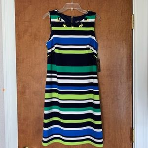 Vince Camuto Dress with Beaded Neckline
